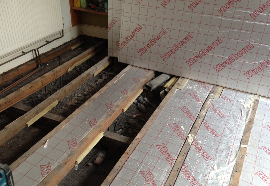how to install insulation between floor joists home ask